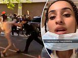 Shocking video shows NYPD officer throwing female George Floyd protester, 20, to the ground
