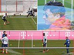 Bayern Munich return to training as stars Robert Lewandowski and Kingsley Coman meet up