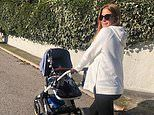 Millie Mackintosh displays her growing baby bump as she looks after hergodchild in France