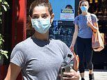 Ashley Greene gets in a workout with a pal before loading up on essential goods at a Ralph's store