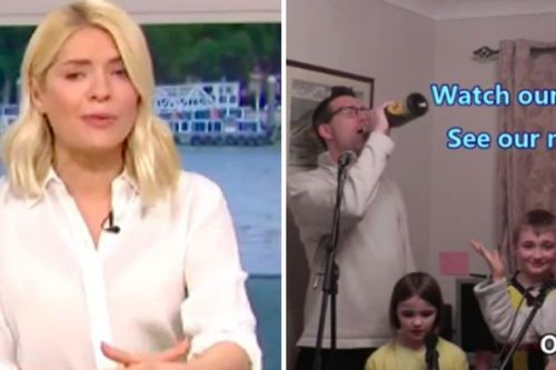 Holly Willoughby breaks down crying over video of family singing during lockdown