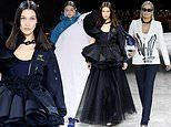 Bella and Gigi Hadid are joined by mum Yolanda on the Off White catwalk at Paris Fashion Week