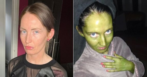 Mum turns bright green after using 'out-of-date' fake tan