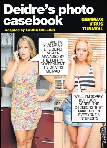 Gemma can't find a sympathetic ear to vent her lockdown frustration - Deidre's Photo Casebook