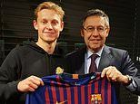 Barcelona announce £65m capture of Frenkie de Jong from Ajax