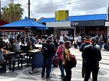 Anti-vaxxers stage protest at popular dining strip in St Kilda Melbourne to protest Covid-19 rules