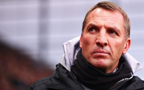 Brendan Rodgers refuses to get carried away with title talk, but says Leicester must be 'ready to pounce' if Liverpool slip'