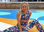 Gabby Allen shows off her toned physique in funky sportswear