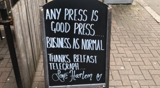 Belfast's Harlem Cafe says 'any press is good press' after ex-boss gets boardroom ban