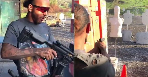 Lewis Hamilton training for his first action movie and challenges Keanu Reeves for John Wick role