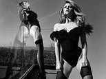 Lili Reinhart looks like a femme fatale as she dons vampy bodysuit for sexy black and white shots
