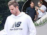 Steve Smith and wife Dani Willis inspect a $7million mansion in Sydney's eastern suburbs