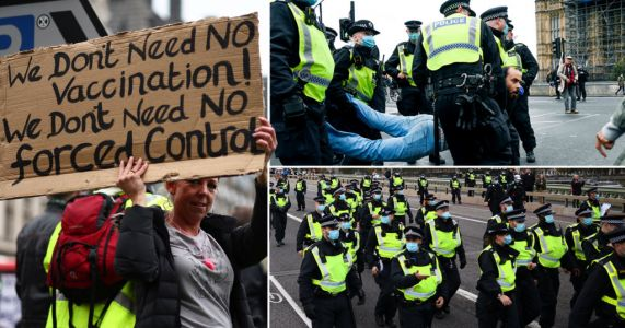 Ten arrested as police break up 'Stop The New Normal' anti-lockdown protest