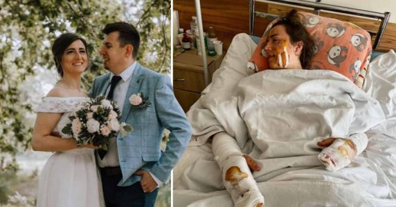 Bride hurt and two guests dead after hidden WW1 bomb explodes on honeymoon hike