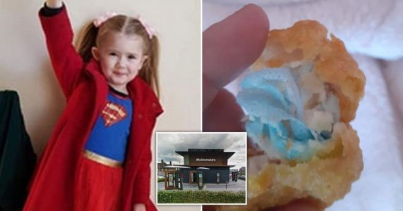 Girl, 6, chokes on face mask 'cooked inside McDonald's chicken nuggets'