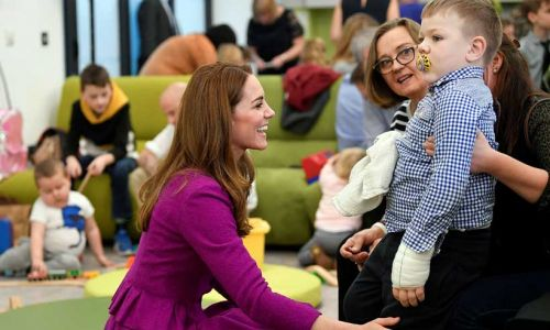 Kate Middleton has made private visits to families supported by one of her first patronages
