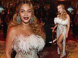 Beyonce flaunts her figure in a silver dress at SECOND night of Jay-Z's Shawn Carter Foundation gala