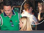Ant McPartlin enjoys a drink as he celebrates 44th birthday with Declan Donnelly