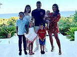 Rebekah Vardy poses with husband Jamie and their children in family snap while on holiday in Ibiza
