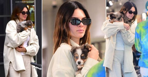 Kendall Jenner spends day cuddling the cutest puppy while taking a break from Fashion Week and our hearts can't handle it