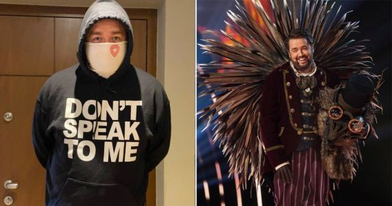 Jason Manford is wearing his The Masked Singer hoody during self-isolation: 'Don't speak to me'