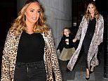 Tamara Ecclestone holds hands with daughter Sophia as she heads for dinner with father Bernie