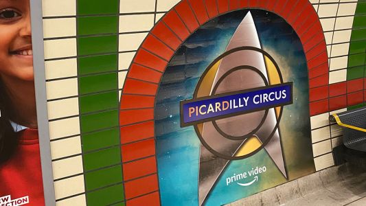 Star Trek Picard: Piccadilly stations gets a pun-tastic Trekkie takeover