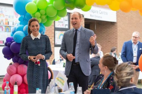 Kate Middleton stuns in blue as she and Prince William visit Norfolk hospital