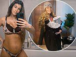 Amy Willerton proudly displays her post-partum figure in lingerie just one week after giving birth