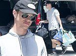 Naya Rivera's ex-husband Ryan Dorsey looks somber while visiting his former mother-in-law's home