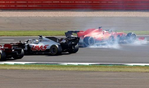 Sebastian Vettel disaster after strange spin on first lap of 70th Anniversary Grand Prix