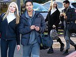 PICTURE EXCLUSIVE: Dancing On Ice star Caprice Bourret heads to the rink with a replacement coach