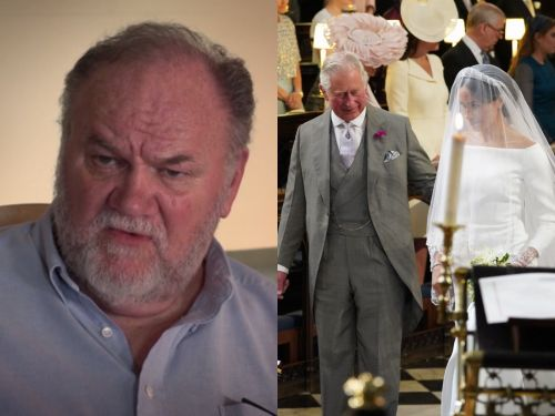 Thomas Markle says he cried seeing Meghan Markle walk down the aisle because he was 'jealous' of Prince Charles