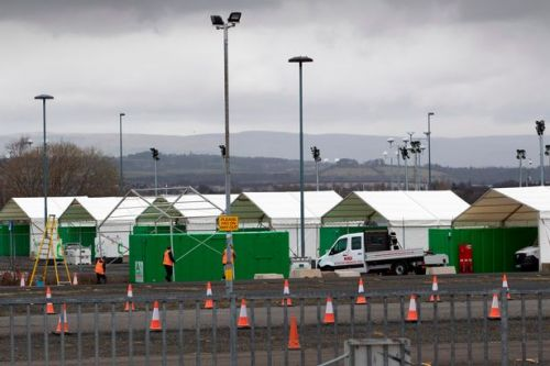 Drive-through testing site set up at Glasgow Airport car park