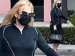 Rebel Wilson shows off trim frame while stepping out in leggings and matching top in West Hollywood