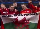 Gareth Bale risks upsetting Real hierarchy as he dances with 'Wales. Golf. Madrid' banner