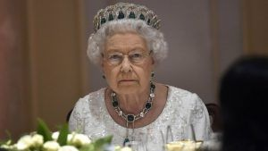 The Queen has one rule that all guests must follow at dinner