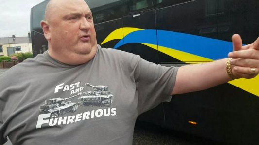 'Big Oaf' motorist claims his human rights were breached after video rant at coach driver went viral