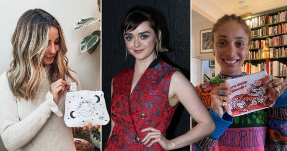 Maisie Williams, Zoe Sugg and Adwoa Aboah team up with WaterAid to launch 'period bag'
