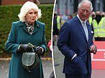 Prince Charles and Camilla appear in high spirits for one day visit to Northern Ireland