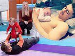 Gymnast Max Whitlock shows off adorable workout using his daughter Willow, 11 months, as weight