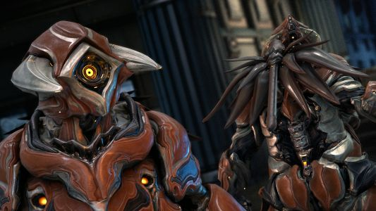 """Warframe Grendel lands this month to eat and """"violently puke out bile-soaked enemies"""""""