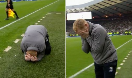 Celtic boss Neil Lennon BREAKS DOWN after Hearts win to secure treble treble