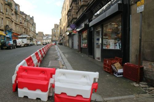 Work to install temporary social distancing cycle lanes begins in Paisley