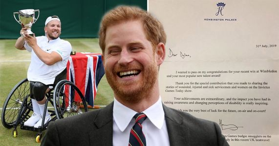 Prince Harry reveals he wears budgie smugglers in cheeky letter to wheelchair tennis star