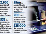 Give us back our ATMs, beg villagers: But banks will only pay for 200