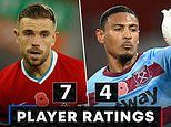 Liverpool 2-1 West Ham - RATINGS: Tireless display from Jordan Henderson drives Reds to victory