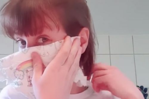 Mum's clever hack that turns a nappy into a coronavirus mask goes viral