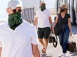 Tom Hanks and Rita Wilson travel in style as they arrive on Paros Island in Greece in a private jet