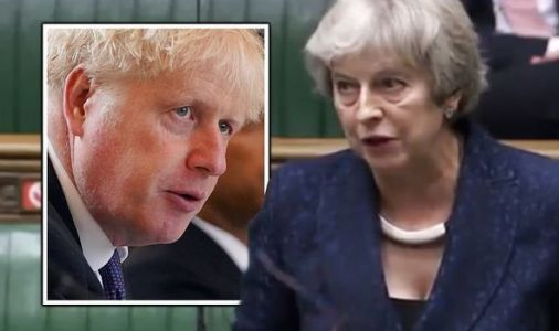 Theresa May attacks 'reckless' Boris Johnson as she threatens to lead Brexit rebellion